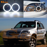 For Chevrolet Niva 2009 2010 2011 2012 2013 smd led Angel Eyes kit Day Light Excellent Ultra bright illumination DRL