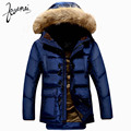KUAMAI New Men Down Coat Brand Clothing Winter Jacket Men Nagymaros Collar Warm Snow Horn Button Duck Down Jacket Men XXXL