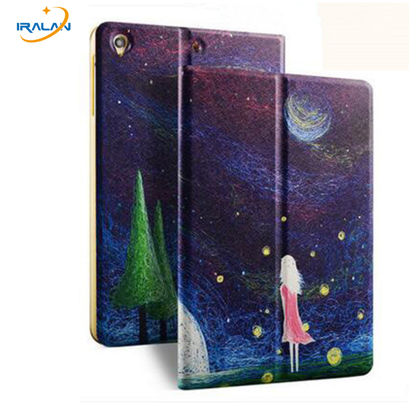 Hot Luxury fashion Painted Cover Case for Xiaomi Mi Pad 1 MiPad 1 Ultra-thin flip bracket Case Protective Skin Cover+Stylus pen ultra thin smart flip pu leather cover for lenovo tab 2 a10 30 70f x30f x30m 10 1 tablet case screen protector stylus pen