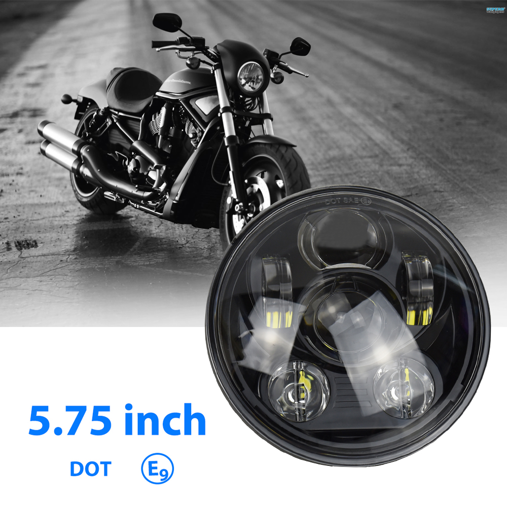 5-3/4 Round Headlamp for Harley Dyna Sportster 1200 883 Parts Turn Light Daymaker 5.75 Inch Projector LED Moto Headlight