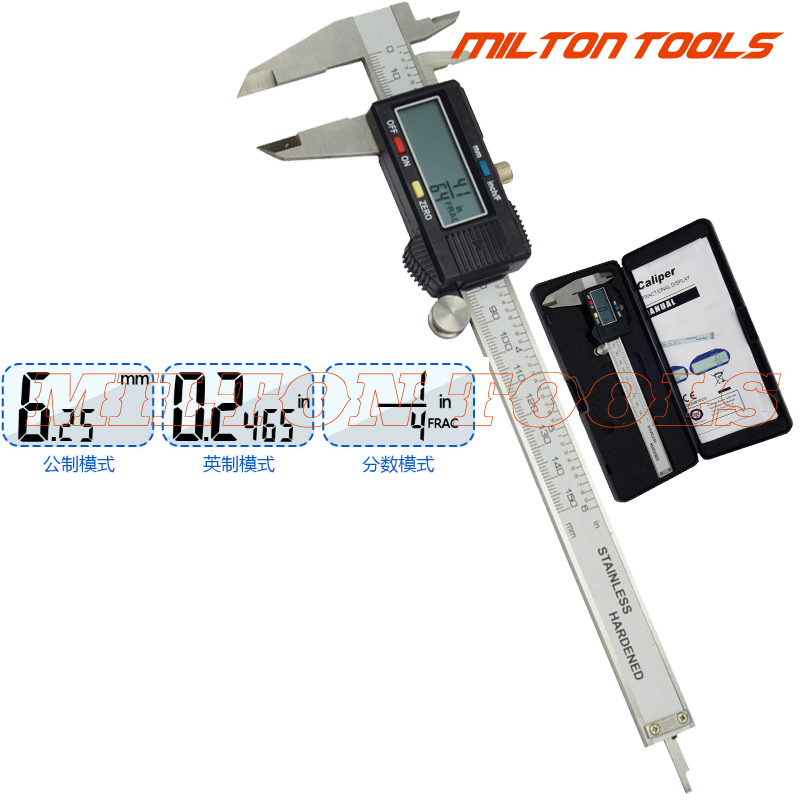 Digital Calipers Electronic By With Extra Large LCD Screen Inches Conversion