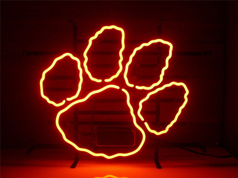 Neon sign new clemson tigers signboard real glass beer bar pub neon sign new clemson tigers signboard real glass beer bar pub display outdoor light signs 1714 aloadofball Image collections
