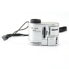 Brand New Mini Lens 60X Pocket Magnifier Microscope With LED Light Jewelry Jewel