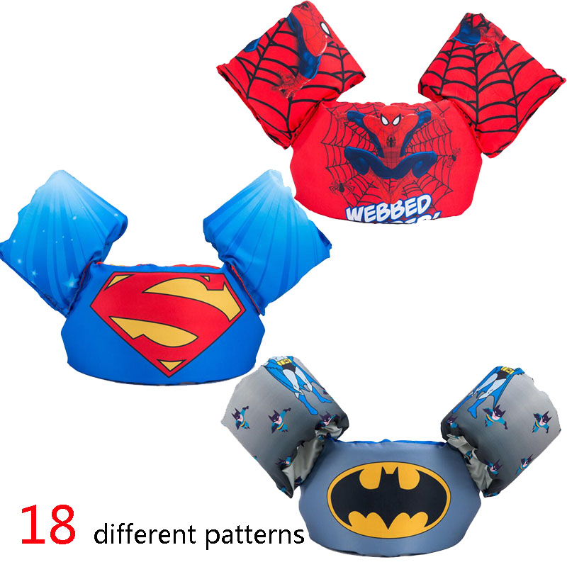 kids baby life vest Superman batman spiderman swimming boys girls jacket fishing superhero swimming circle pool accessories ring