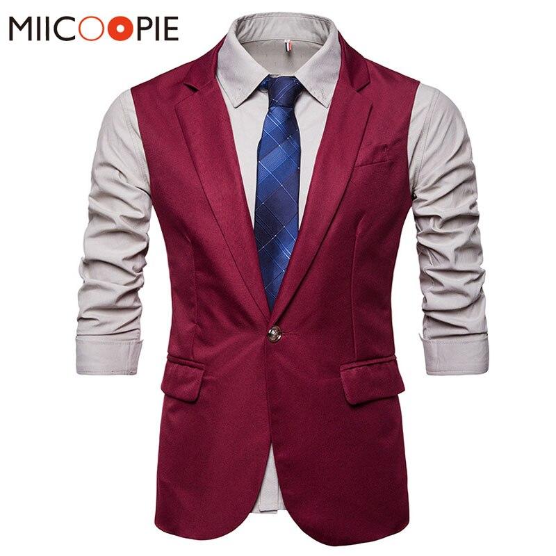 Mens Vest Waistcoat 2018 Royal Work Colete Masculino Suits Blazer For Men Gilet Homme Casual Sleeveless Formal Business Jacket