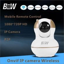 Hot PTZ P2P Wifi Camera 720P HD Wireless IP Camera Baby Monitor Alarm Security CCTV Camera Surveillance Micro SD Card BWIPC012G