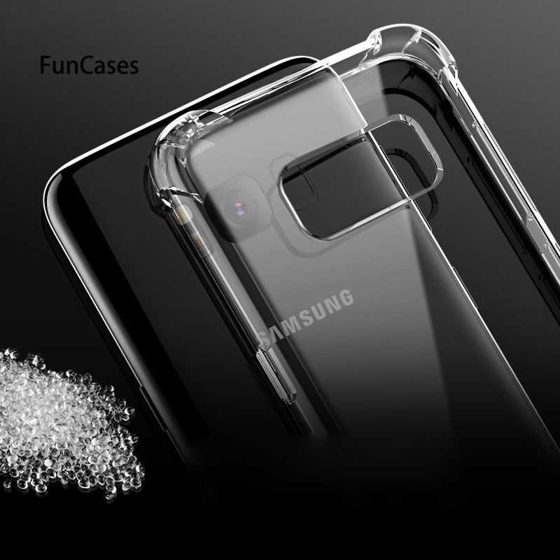Claro Anti-knock funda de silicona funda para Samsung A8 A9 Star lite A6 S9 S8 más A7 A5 J2 PRO J8 J6 J4 2018 J3 2017 J7 J5 S7 borde