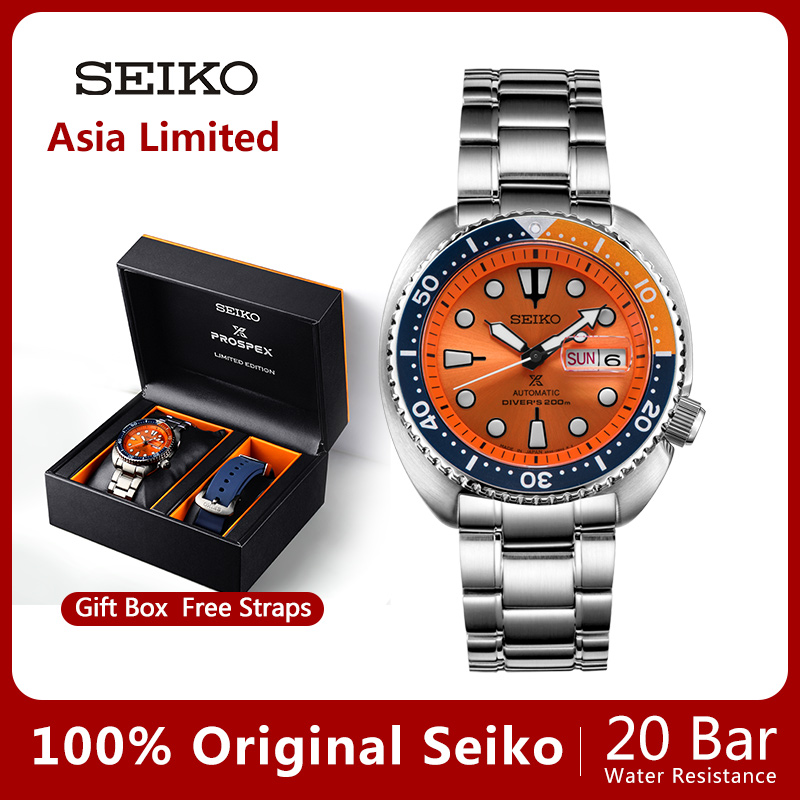 100%Original Official New SEIKO Watch Automatic Mechanical Diver Waterproof  Luminous Men'sWatch Asia-in Mechanical Watches from Watches