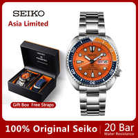 100%Original SEIKO Watch Automatic Mechanical Diver Waterproof Luminous Men'sWatch Asia Limited Edition SRPC95J Global Warranty