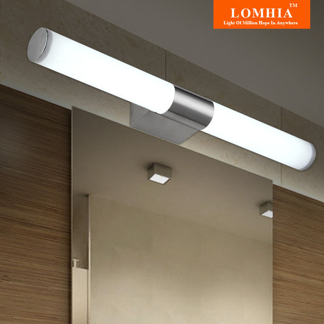 Contemporary Stainless Steel Lights Bathroom Led Mirror Light Vanity Lighting Wall Lamps Cabinet Lamp