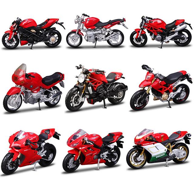 Maisto 1:18 aleación diecast modelo de motocicleta de metal y abs moto juguete equipado con la base del motor bicicleta boys toys para la colección