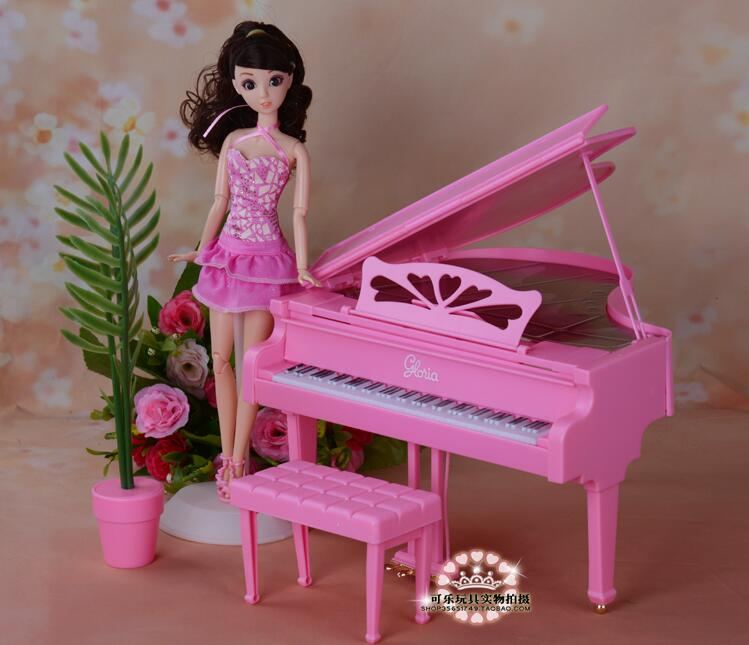 Original For Piano Barbie Musical Instruments Princess 1/6 Bjd Doll Home Dream House Furniture Musicista Accessories Child Toy