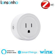 Lonsonho Zigbee Smart Plug US Smart Socket Outlet Works With Echo Alexa Smartthings Wink Hub Smart Home Automation wall socket home security alexa compatible surge protection zigbee home automation solution smart metering plug
