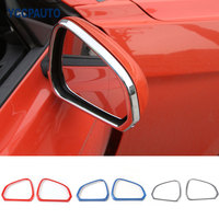 Car Styling Review Mirror Frame Cover For Ford Mustang 2015 16 17 Up Ring Outlet Exterior