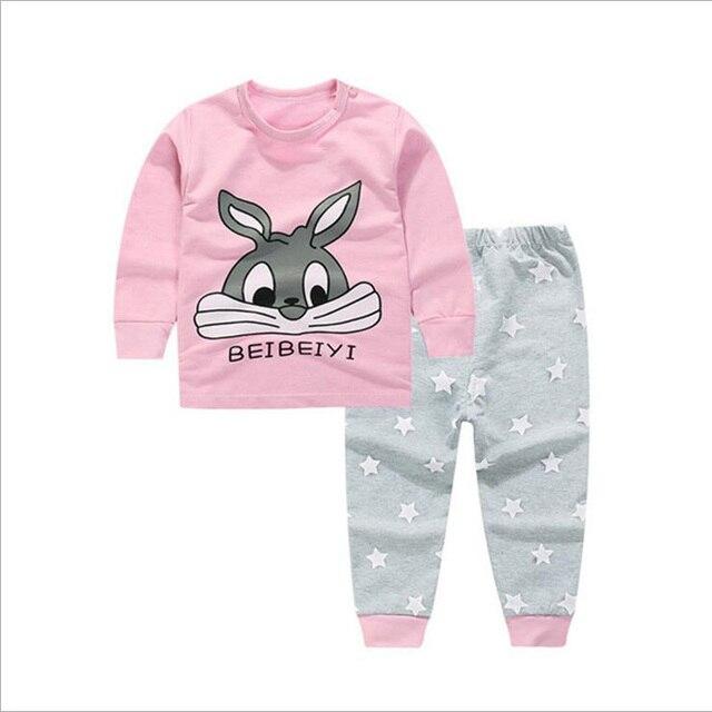 e20aaa569 Toddler Baby Boys Girls Pyjamas Dolphin Rabbit Panda Print Pajamas ...