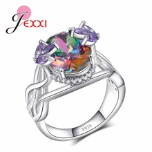 wholesale women item from new with jewelry rings silver stones engagement for uloveido fantasy trendy platinum cubic quality christmas wedding crystal fashion zirconia in ring high color plating sparking