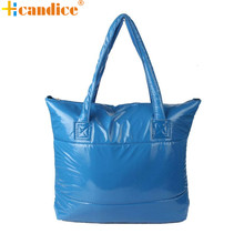 Best Gift Hcandice New Fashion Women Girl Space Bale Cotton Totes Handbag Feather Down Shoulder Bag drop ship bea6624