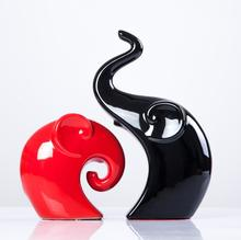 1 пара Jingdezhen Керамические пару слонов Керамика ремесла Любители Подарки и свадебный подарок модный бытовое украшение