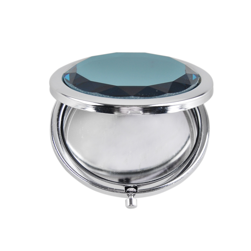 1PC Gift Double Side Folding Portable Crystal Metal Makeup Small Mirror Beauty Double Sided Makeup Mirror