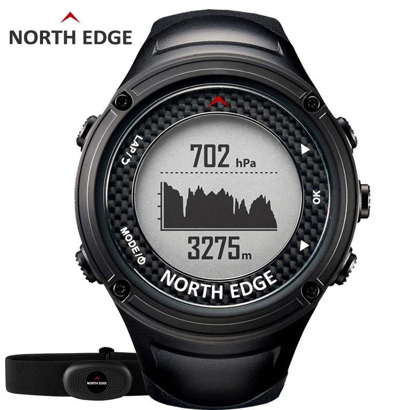 Северная край Для мужчин спортивные GPS часы Для мужчин цифровые часы Водонепроницаемый сердечного ритма Мониторы альтиметр барометр Компа...