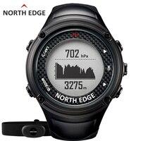 NORTE BORDA GPS assistir Esportes dos homens homens relógios Digitais À Prova D' Água Heart Rate Monitor Altímetro Barômetro Bússola horas de Caminhada