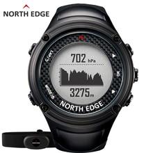 NORTH RAND männer Sport GPS uhr männer digitaluhren Wasserdicht Pulsuhr Höhenmesser Barometer Kompass stunden Wandern