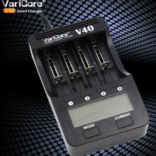 VariCore V40 lcd зарядное устройство 3,7 в 18650 26650 18500 16340 14500 18350 литиевая батарея 1,2 в AA/AAA NiMH батареи