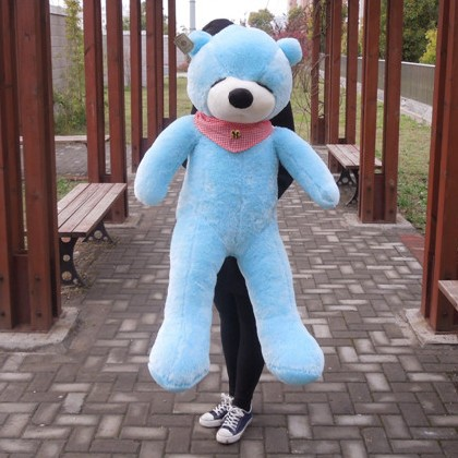 47 Blue Color 1.2M Giant Size Plush Sleepy Teddy Bear Toy Doll Bear Gift New Arrived Sleepy Teddy Bear Plush Toy Factory Supply прогулочная коляска teddy bear sl 106 blue owl