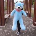 "47"" Blue Color 1.2M Giant Size Plush Sleepy Teddy Bear Toy Doll Bear Gift New Arrived Sleepy Teddy Bear Plush Toy Factory Supply"