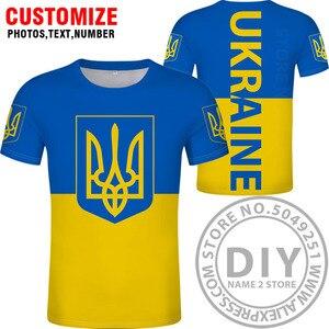 Image 2 - Футболка «сделай сам», «заказ», «имя», «ukr», «Национальный флаг», «Украина», «фото», «логотип», 3D принт