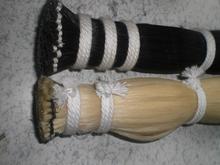 15 Hanks Black Bow hair and 15 Hanks White Bow hair all 32 inches 6 grams Mongolia horse hair free shipping
