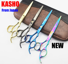 Kasho 5.5/6 Inch High Quality Professional Hair Scissors Hairdressing Tool Cut Hair Cutting Barber Shears Set Thinning Salon Kit
