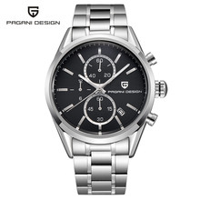 Classic Mens Business Watches PAGANI DESIGN Top Brand Luxury Quartz Watch Chronograph Military Clock Leather Steel Wristwatch