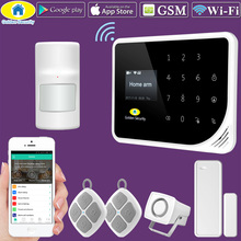 hot deal buy golden security wifi gsm 3g alarm systems security home gsm alarm system app control wired alarm pet immune detector diy kit