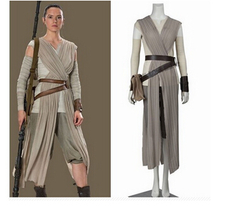 adult the force awakens Rey cosplay Carnival party star wars costume role-palying party show Rey costume custom made