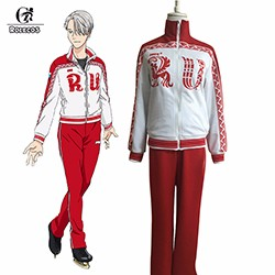 ROLECOS-New-Anime-Yuri-on-Ice-Cosplay-Costumes-Victor-Nikiforov-Cosplay-Clothes-Sport-Suit-Jacket-Pants