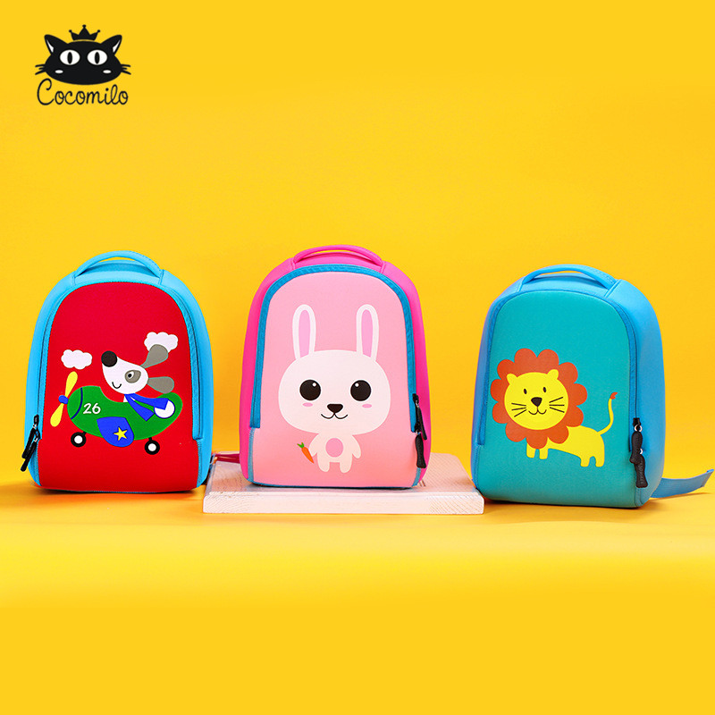 2018 Factory Brand Primay Students 3D Cute Animal Backpack Kids Book School Bags Girls Boys Cartoon Children School Backpack Bag