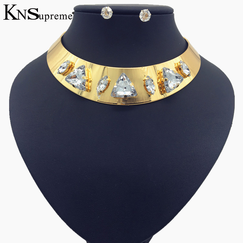 Africa Nigeria golden wedding beads, dubai fashion necklace, earrings, high quality European exaggerated style clothing accessor