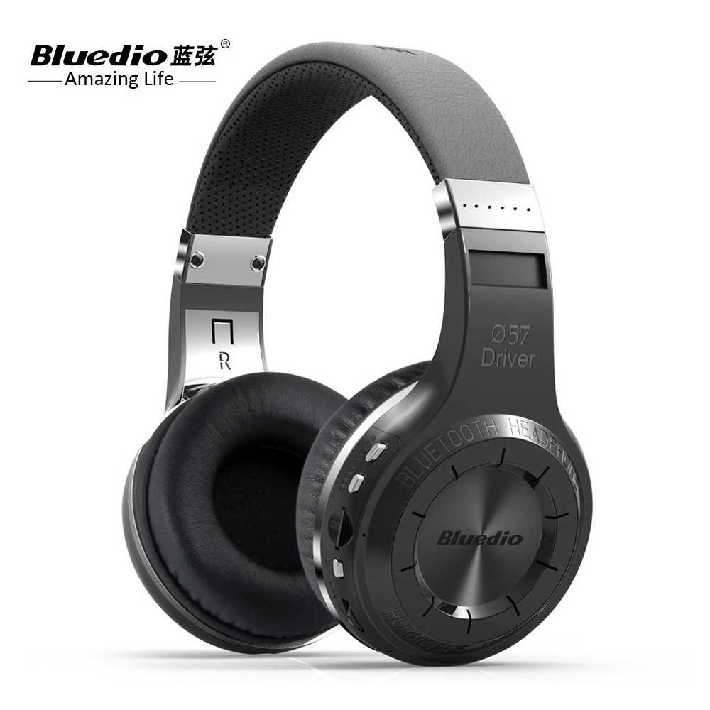 100% Original Bluedio H+ music Headphones Stereo Wireless Bluetooth Headset with Mic Handsfree supports Micro sd card FM Radio ks 508 mp3 player stereo headset headphones w tf card slot fm black