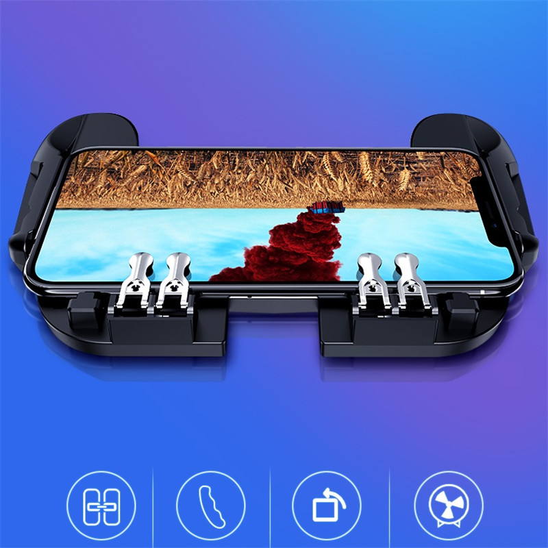 Mobile Controller Gamepad Cooler Fan For iOS Android For Samsung 6 Fingers Operation Joystick Cooler Smart Mobile Phone Radiator in Mobile Phone Coolers from Cellphones Telecommunications