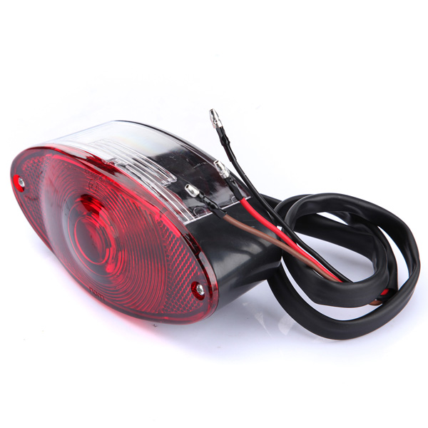 MOTORCYCLE UNIVERSAL CAT EYE REAR BRAKE STOP TAIL LIGHT RED FOR HARLEY CHOPPER ...