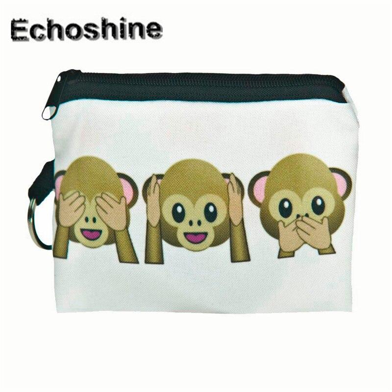 2016 fashion new arrive Girl printing coins change purse Clutch zipper zero wallet phone key bags gift wholesale carteira A0000