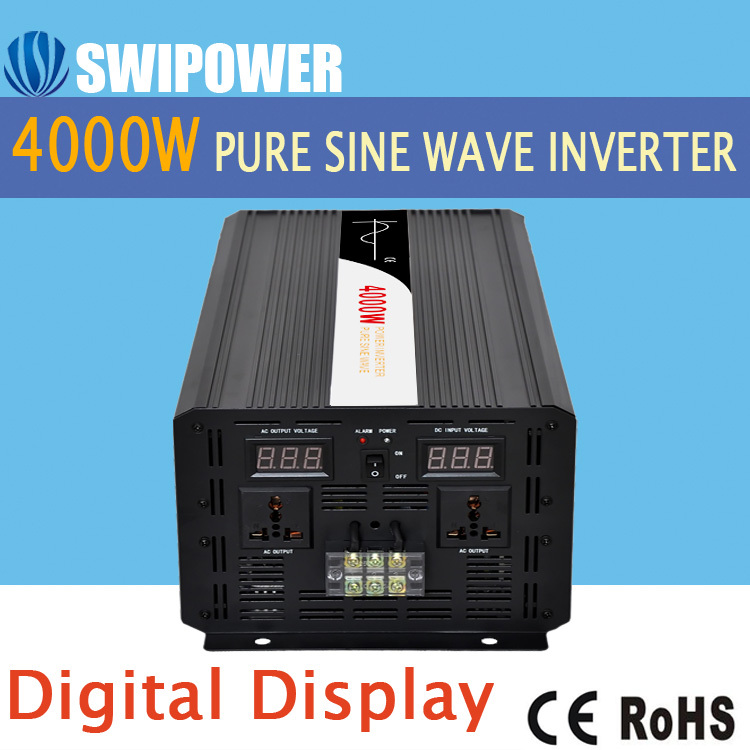 4000W pure sine wave solar power inverter DC 12V 24V 48V to AC 110V 220V digital display new 400w 800w pure sine wave solar power inverter dc 12v 24v to ac 110v 220v car power inverter led display drop shipping