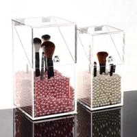 2017 Crystal Acrylic Makeup Brush Storage Box Organizer Cosmetic Case Makeup Tools Sundries Flashing Pencil Lipstick