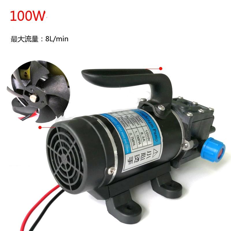 100w 8Lpm automatic pressure switch high pressure self priming mini electric dc 12v 24v diaphragm water