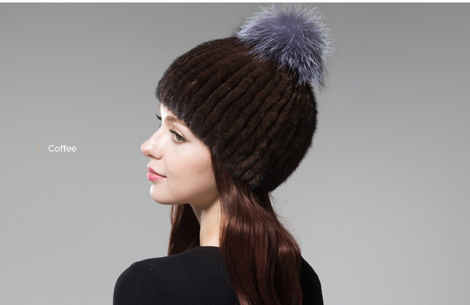 mink fur winter hats for women PCM010 (20)