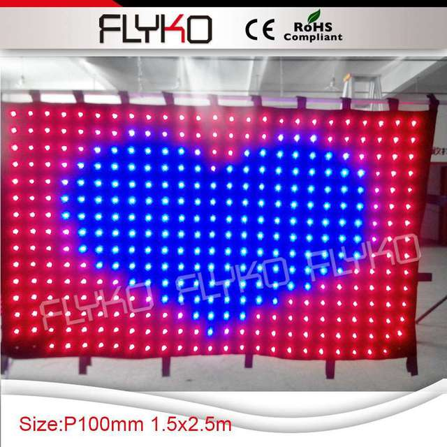 Free Shipping Wedding Stage Backdrop Decoration Led Shower Curtain Video