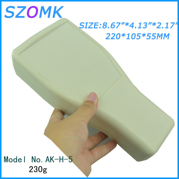 4 pieces a lot  handheld  szomk control enclosure   220*105*55 mm 8.67*4.13*2.17 inch  plastic enclosure for electronics 5 pieces lot d1fh3 1f electronics component