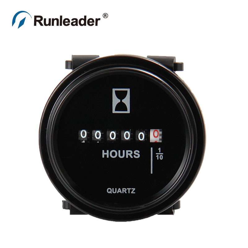 Mechanical Tachometer With Hour Meter Gauge : Professional engine round mechanical hour meter gauge