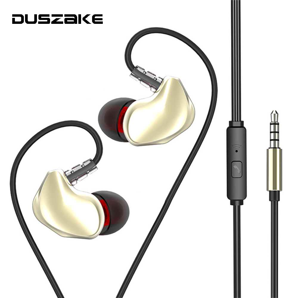 Stereo Earpieces In-Ear 3.5mm Wired Sport Earphone for phones Bass Earbuds With Mic for Samsung Xiaomi Huawei cellphone Computer